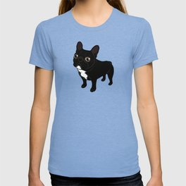 Brindle Frenchie likes to go for a walk to meet some friends T-shirt