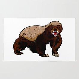 Honey badger illustration Rug