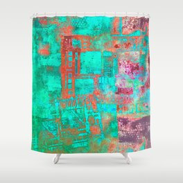 Abstract Ladder Shower Curtain