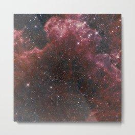Red Burst Nebula Metal Print