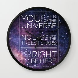 Child of the Universe Wall Clock
