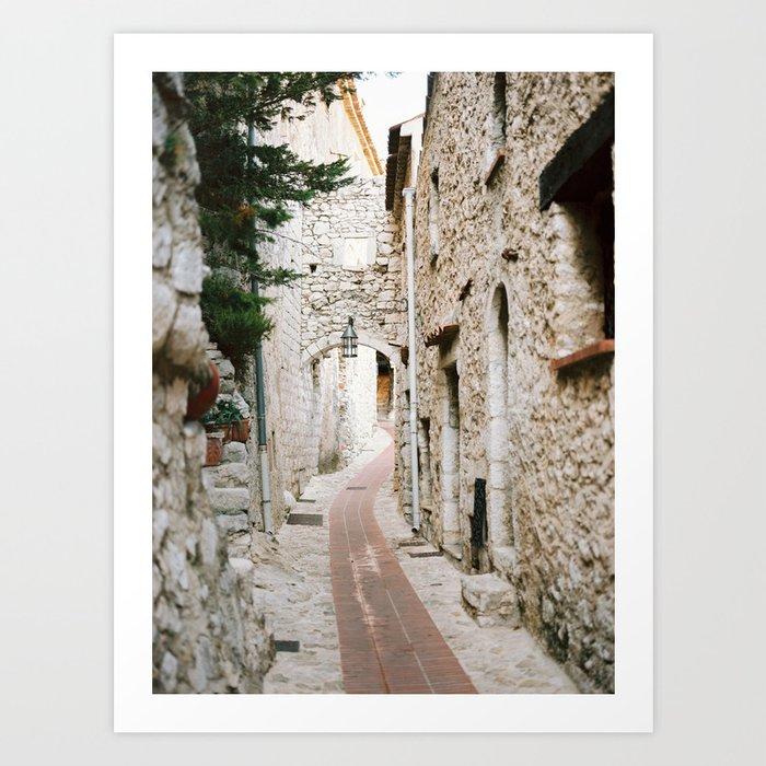 Eze Village - Alley Kunstdrucke