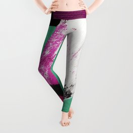 abstract paper collage Leggings