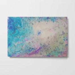 Acid Wash Rainbow Abstract Metal Print