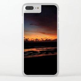 Dark Sunset Clear iPhone Case