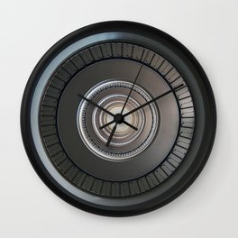 Monochromatic round staircase Wall Clock