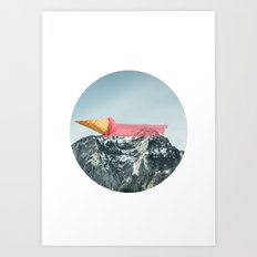 On the top Art Print