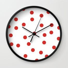 red spotted Wall Clock
