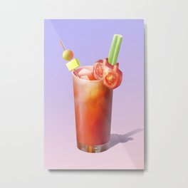 Bloody Mary Cocktail Metal Print