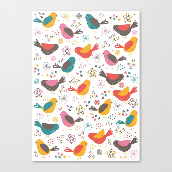 Quirky Chicks Canvas Print