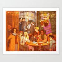 grantaire Art Prints featuring Les Misérables: A Group Which Almost Became Historic by batcii