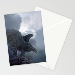 The black griffon Stationery Cards