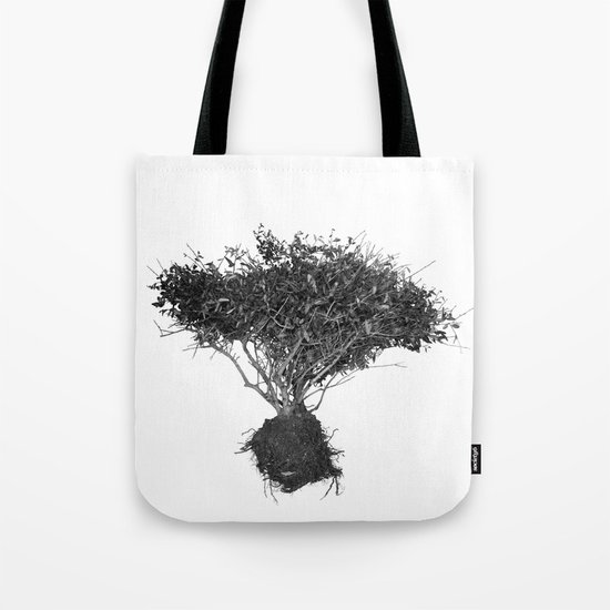 Floating Shrubbery Tote Bag