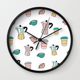 Moka espresso coffee pot Wall Clock