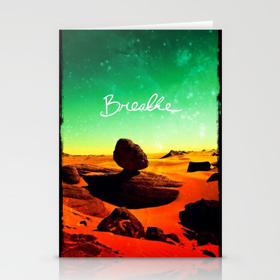 Breathe - for iphone Stationery Cards
