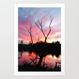 JAN SUN SET Art Print