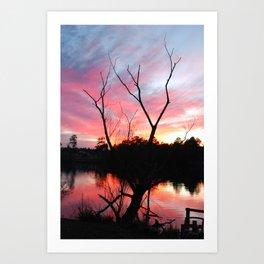 JAN SUN SET Art Print