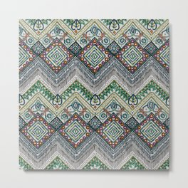 beaded chevron platinum Metal Print