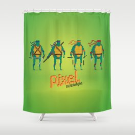 Ninja Turtles - Pixel Nostalgia Shower Curtain