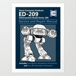 ED-209 Service and Repair Manual Art Print