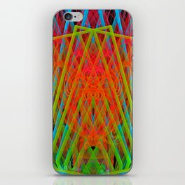 A Psychedelic Hand of Cards iPhone Skin