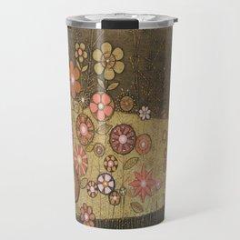 Wild Flower Collagraph Travel Mug