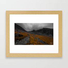 The Scottish Highlands in Autumn. Framed Art Print
