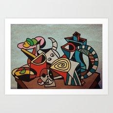 Still Life in Cubism Art Print