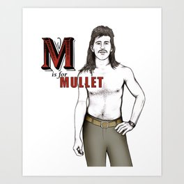 M is for Mullet Art Print