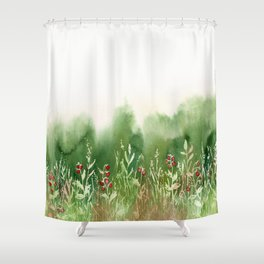 Strawberry Fields for an Indefinite Amount of Time Shower Curtain