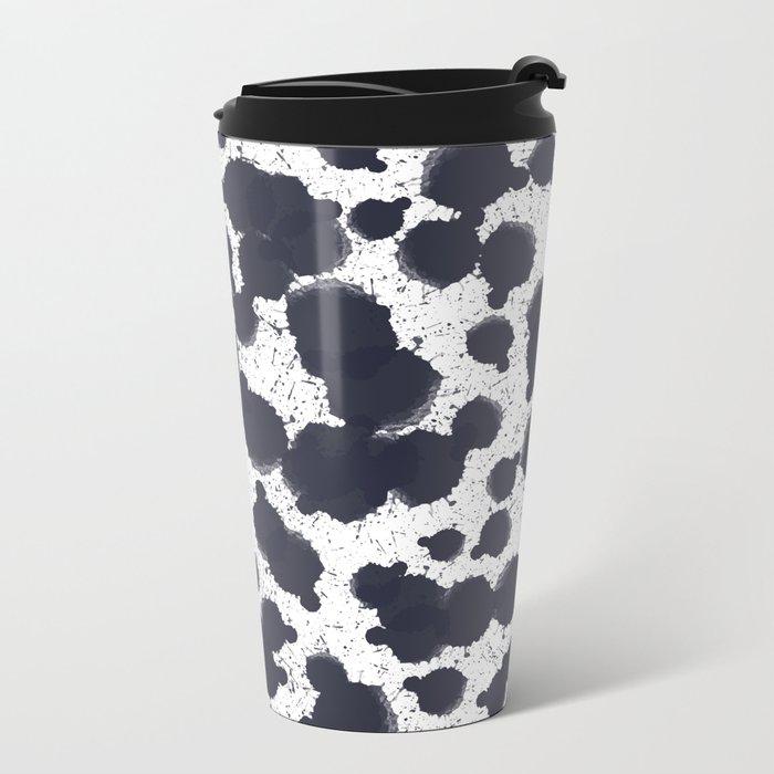 Watercolor dots Metal Travel Mug
