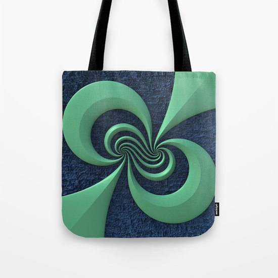 Green on Blue Tote Bag