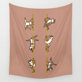 Cats Pole Dancing Club Wall Tapestry