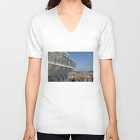 rome V-neck T-shirts featuring Rome by AntWoman