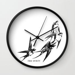 Free Spirity Wall Clock