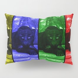 Black panther in colors Pillow Sham