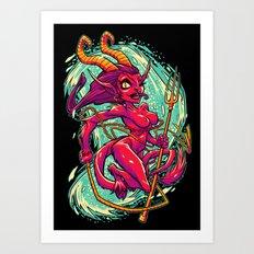 SHE-KRAMPUS Art Print