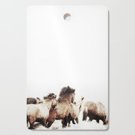 WILD AND FREE 2 - HORSES OF ICELAND Cutting Board