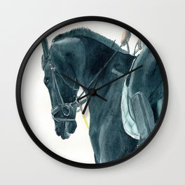 Friesian Horse 2 Wall Clock