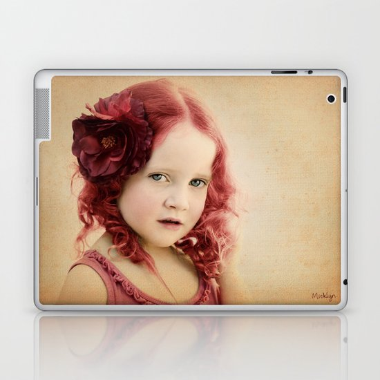 Mila as a Vintage Rose Laptop & iPad Skin