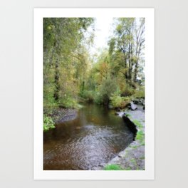 Autumn Creekside Art Print