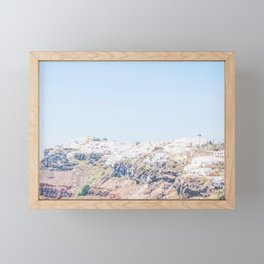 495. Oia City on top, Santorini, Greece Framed Mini Art Print