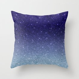Ombre glitter #14 Throw Pillow