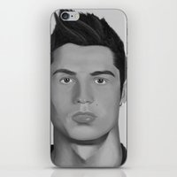 ronaldo iPhone & iPod Skins featuring Cristiano Ronaldo by OliverThor