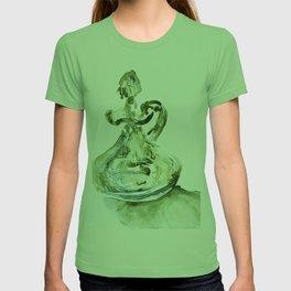 Green Depression Glass WaterColour by CheyAnne Sexton T-shirt