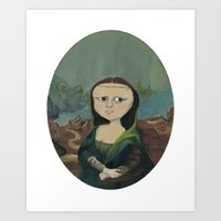 mona lisa Art Prints featuring Mona Lisa by Chris Talbot-Heindl