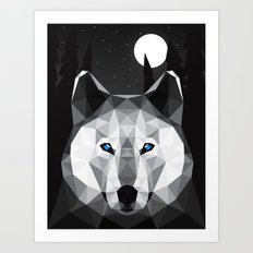 The Tundra Wolf Art Print