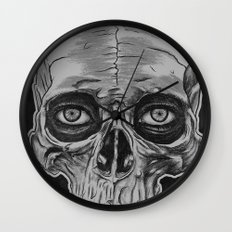 Behind the skull Wall Clock