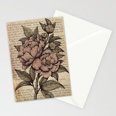 Peonies  - Color Stationery Cards