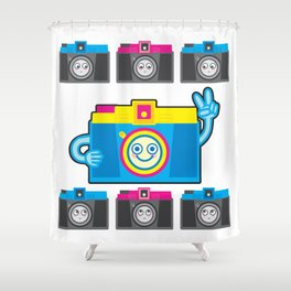 We are watching you. PEACE!!! Shower Curtain